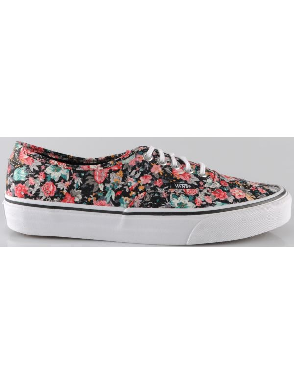 VANS AUTHENTIC SHOES (MULTI FLORAL) BLK/ TRU/WHT
