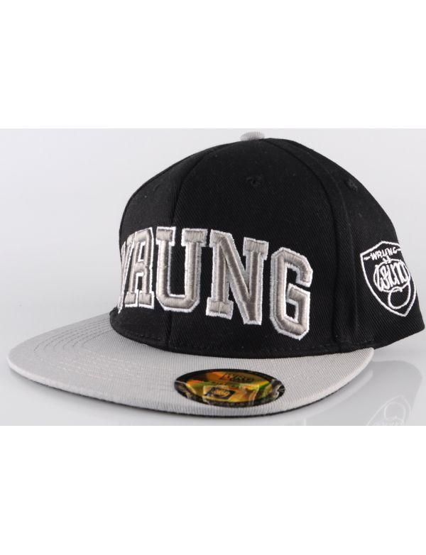 WRUNG CAPS SNAPBACK CAP BLOCK LETTER